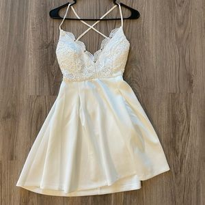White fashionova dress